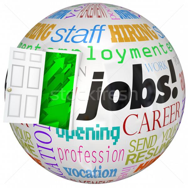 Jobs Career Door Open New World Work Opportunities Stock photo © iqoncept