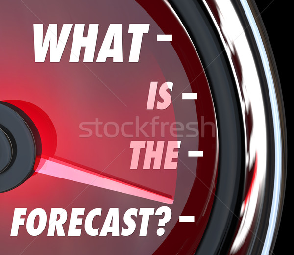 What is the Forecast Speedometer Gauge Level Measuring Growth Stock photo © iqoncept