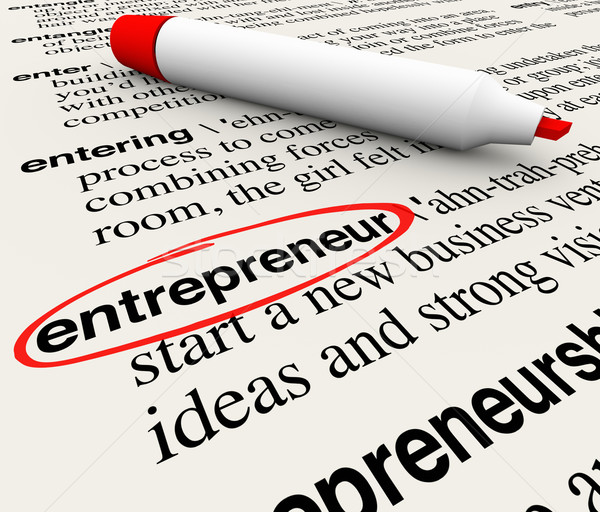 Entrepreneur Dictionary Definition Business Startup Leader Visio Stock photo © iqoncept