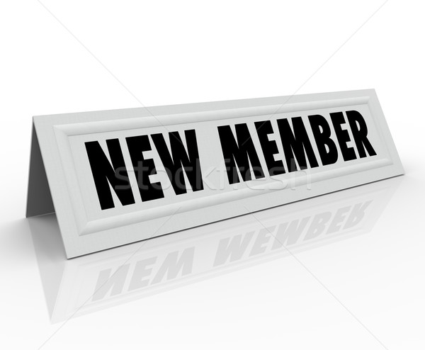 New Member Introduction Welcome Joining Committee Stock photo © iqoncept