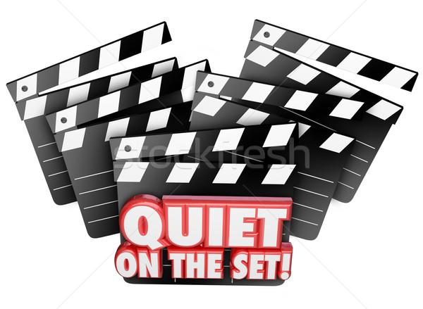 Sessiz ayarlamak film film üretim Stok fotoğraf © iqoncept