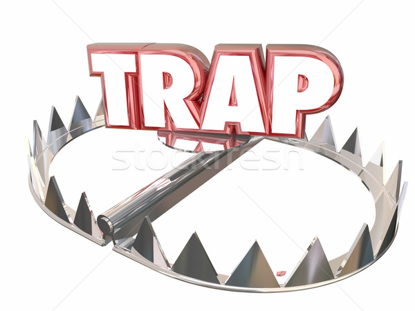 Trap Ambush Risk Danger Avoid Bear 3d Word Stock photo © iqoncept