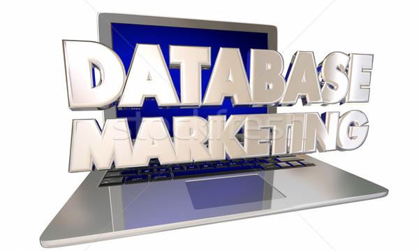 Cseresznye marketing vásárló lemezek információ célzás Stock fotó © iqoncept
