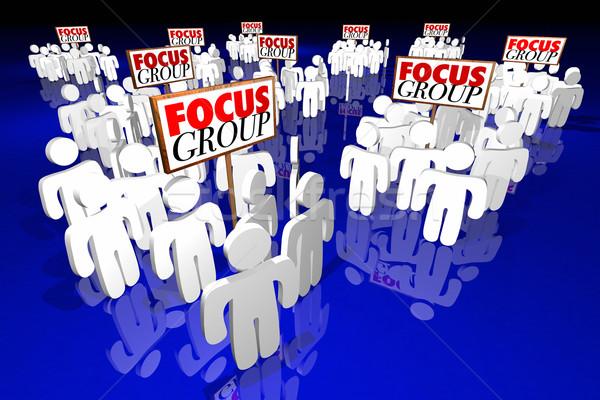Groupe de discussion client enquête discussion réunion personnes Photo stock © iqoncept