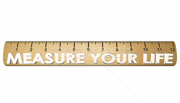 Measure Your Life Happiness Satisfaction Ruler 3d Illustration Stock photo © iqoncept