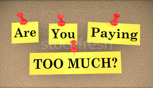 Are You Paying Too Much Overspending 3d Illustration Stock photo © iqoncept
