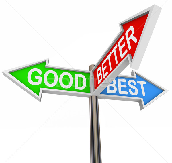 Good Better Best Choices - 3 Colorful Arrow Signs Stock photo © iqoncept