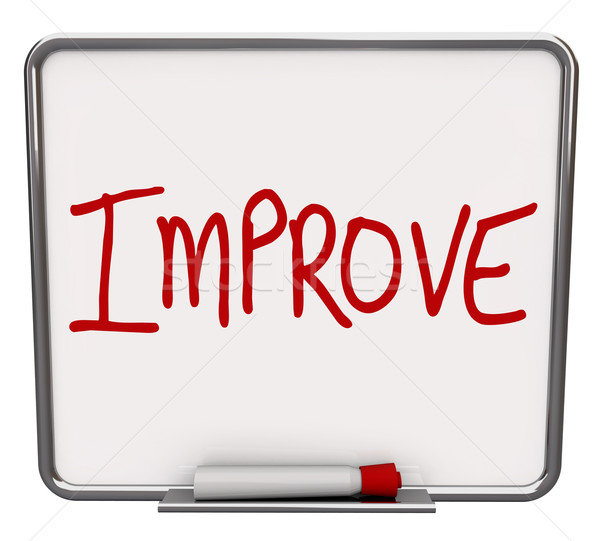 Improve Word on Dry Erase Board Encouraging Change Stock photo © iqoncept