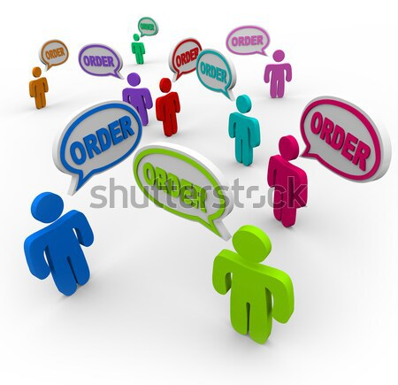 Pick Me - One Person Stands out as Best Choice in Crowd Stock photo © iqoncept