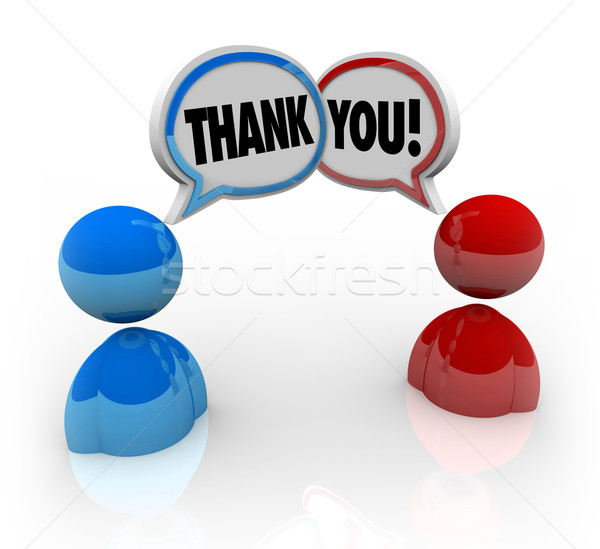 Thank You - Two People Voicing Appreciation Stock photo © iqoncept