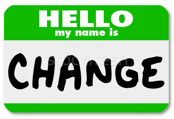 Nametag Hello My Name is Change Label Sticker Stock photo © iqoncept