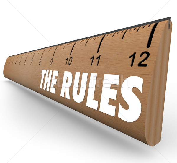 The Rules Ruler Guidelines Regulations Laws Limits Stock photo © iqoncept