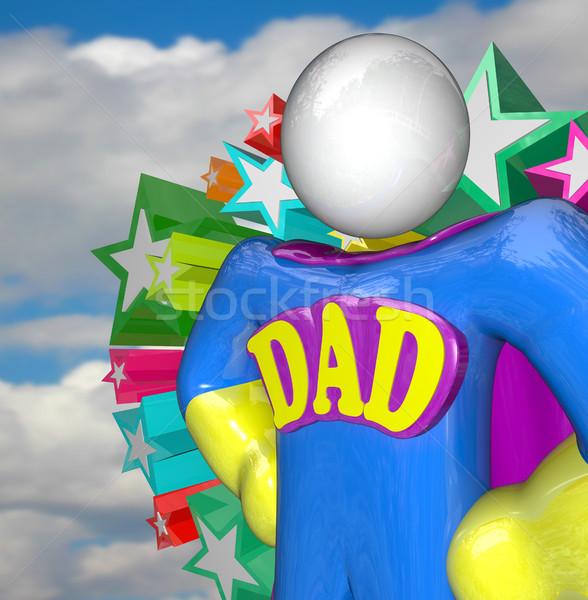 Superhero Dad Super Hero Father Costume Stock photo © iqoncept