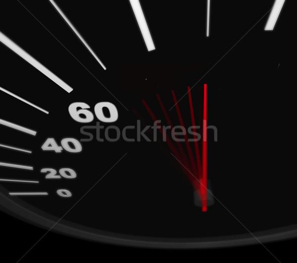 Stock photo: Racing Toward Success - Speedometer