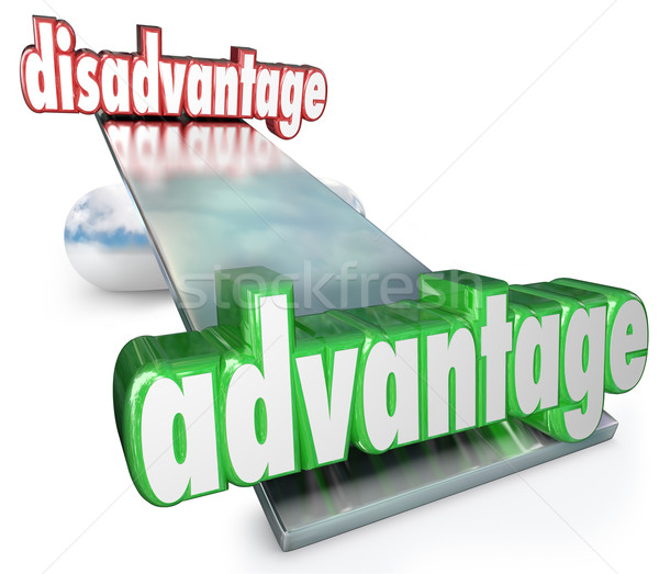 Competitive Advantage Vs Disadvantage See-Saw Balance Scale Stock photo © iqoncept