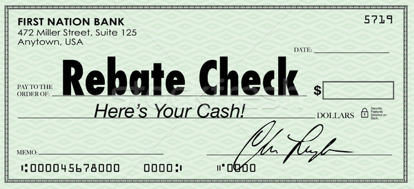 Rebate Check Words Check Money Back Offer Cash Refund Stock photo © iqoncept