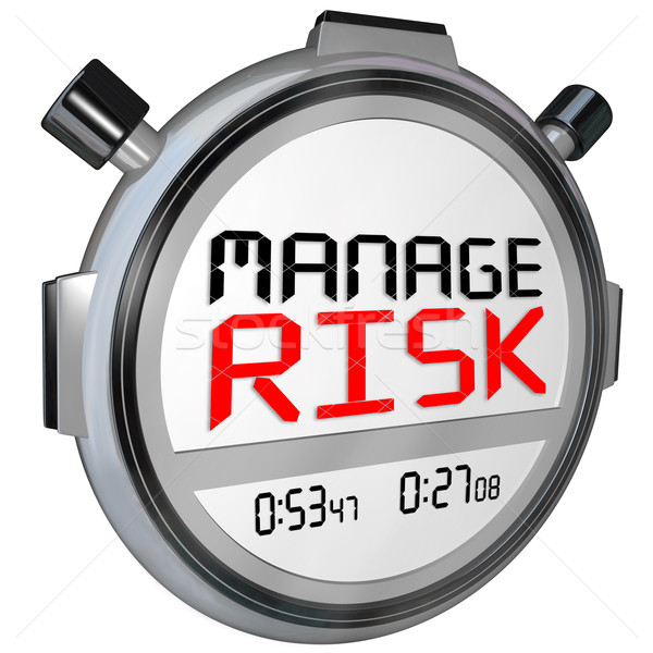 Manage Risk Now Stopwatch Timer Speed Stock photo © iqoncept