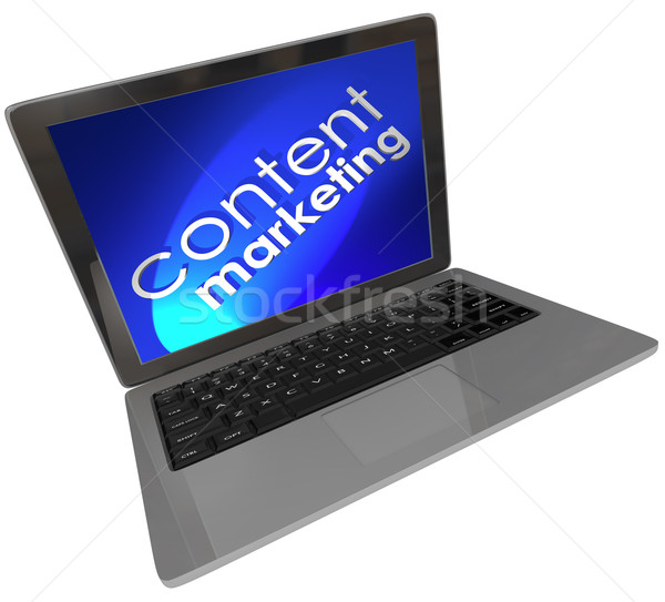 Content Marketing Laptop Computer Online Digital Customer Outrea Stock photo © iqoncept