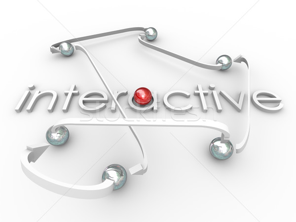 Interactive Word Connected Balls Social Communication Stock photo © iqoncept