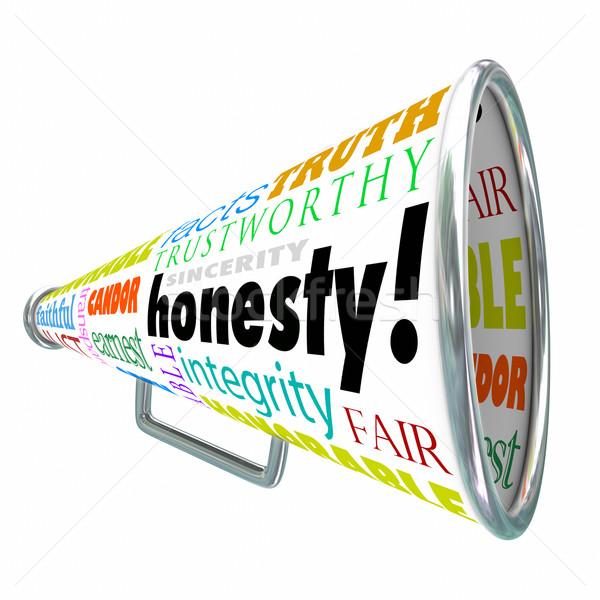 честность мегафон другой хорошие добродетель слов Сток-фото © iqoncept