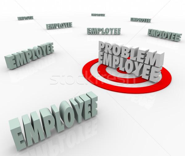 Probléma alkalmazott nehéz munkás megcélzott cég Stock fotó © iqoncept