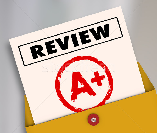 Review A Plus Report Card Great Score Rating Evaluation Stock photo © iqoncept
