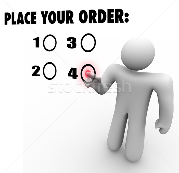 Place Your Order Customer Choose Selected Product Favorite Prefe Stock photo © iqoncept