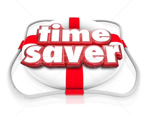 Time Saver Life Preserver Increase Improve Efficiency Productivi Stock photo © iqoncept