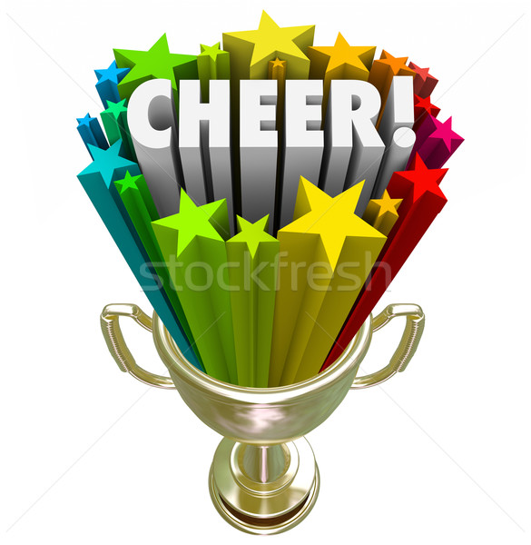 Cheer Team Award Trophy Best Cheerleading Squad Performance Nati Stock photo © iqoncept