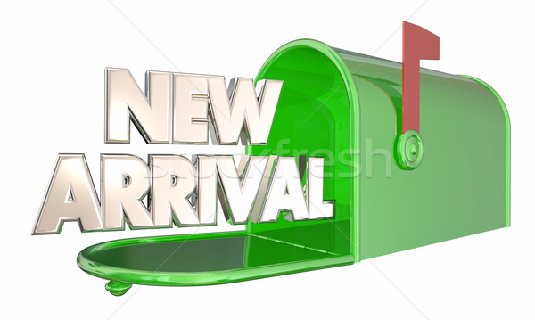 New Arrival Product Message Mailbox Words 3d Illustration Stock photo © iqoncept