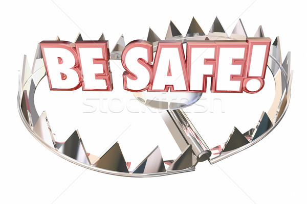 Stock photo: Be Safe Precaution Prepare Prevent Danger Risk 3d Illustration