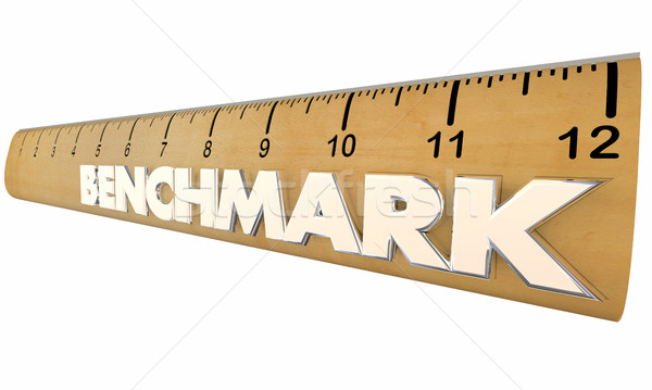 Benchmark Measure Compare Results Ruler 3d Illustration Stock photo © iqoncept