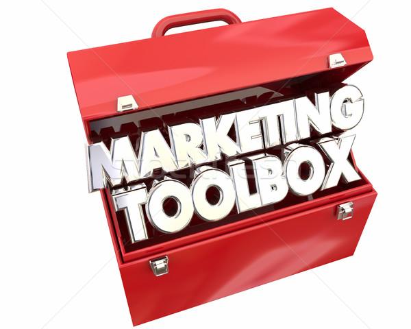 Marketing Toolbox Resources Information Tips Tricks 3d Illustrat Stock photo © iqoncept