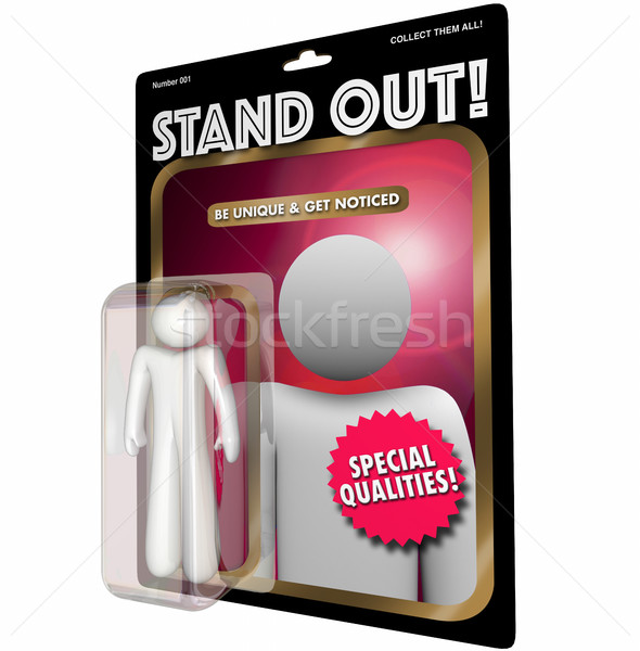 Stand Out Be Unique Person Best Action Figure 3d Illustration Stock photo © iqoncept