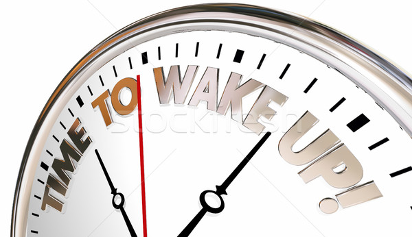 Time to Wake Up Alarm Clock Be Aware Pay Attention 3d Illustrati Stock photo © iqoncept