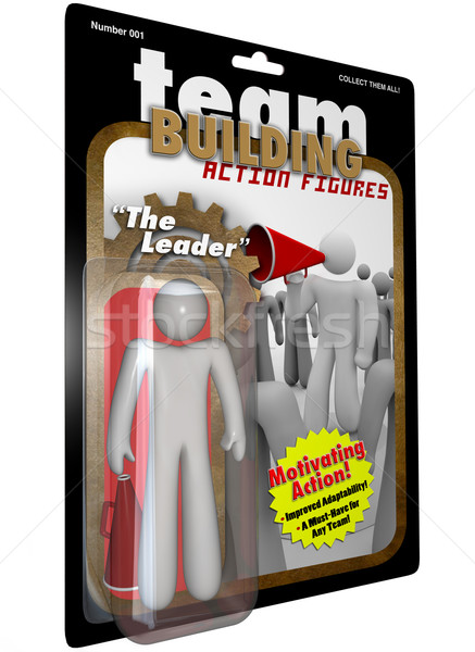 Leader Action Figure Person - Team Building for Success Stock photo © iqoncept