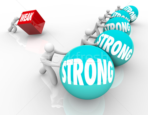 Strong vs Weak Competing Weakness Against Strength Stock photo © iqoncept