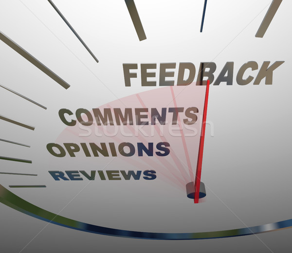 Feedback Speedometer Measuring Comments Opinions Reviews Stock photo © iqoncept
