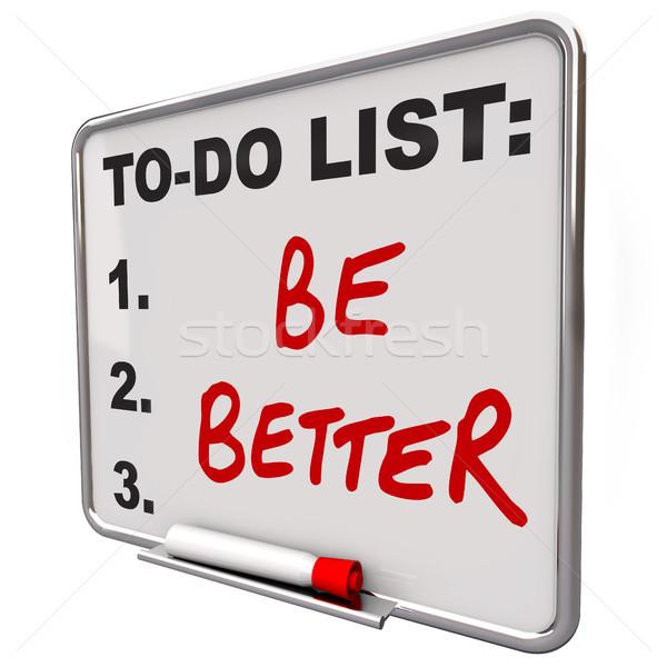 Lista mejor palabras secar bordo Foto stock © iqoncept