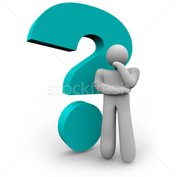 Question Mark and Thinker Stock photo © iqoncept