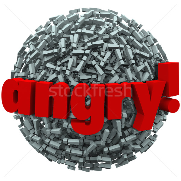 Angry Word Exclamation Points Mad Emotion Fury Stock photo © iqoncept