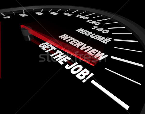 Getting the Job - Interviewing Process - Speedometer Stock photo © iqoncept