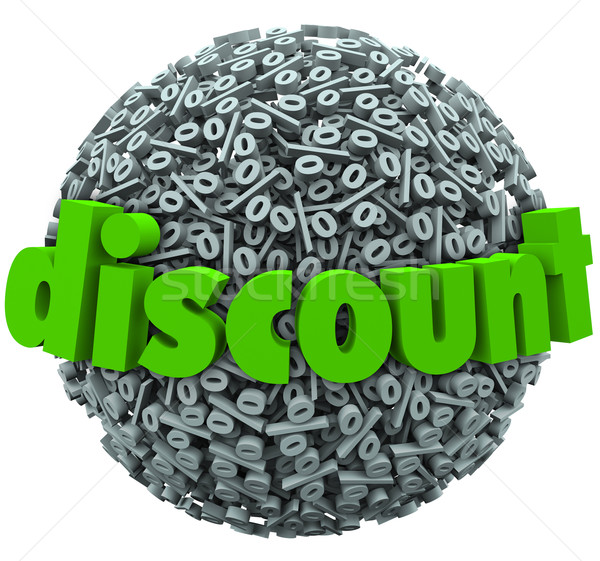 Stock photo: Discount Percent Sign Sphere Save Money Sale Price