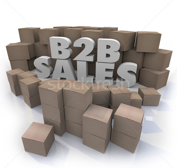 B2B Sales Cardboard Boxes Business Selling Orders Stock photo © iqoncept