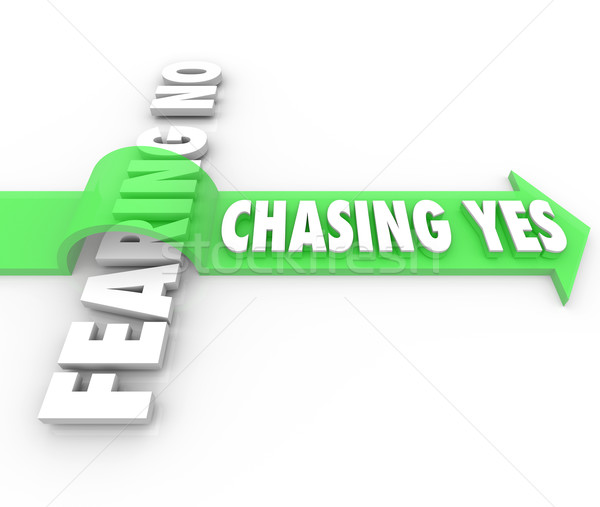 Chasing Yes Fearing No Seeking Approval Sale Customer Acceptance Stock photo © iqoncept