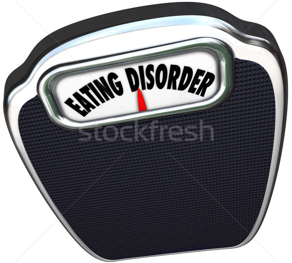 Eating Disorder Scale Words Anorexia Bulimia Health Issue Stock photo © iqoncept