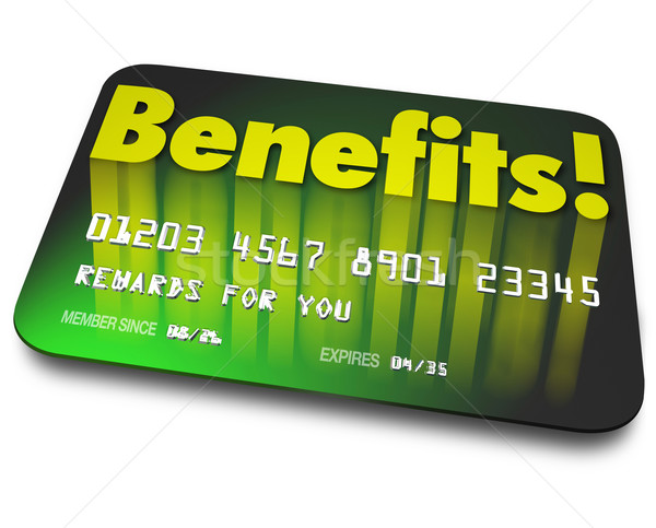 Benefits Word Credit Card Rewards Program Shopper Loyalty Stock photo © iqoncept