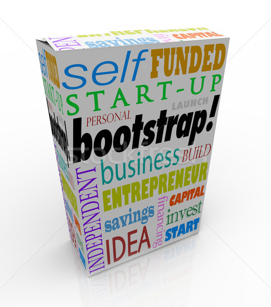Bootstrap Word Product Box Personal Financed Product Company Sel Stock photo © iqoncept
