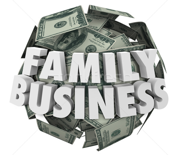 Family Business Words Money Ball Starting Company Relatives Stock photo © iqoncept