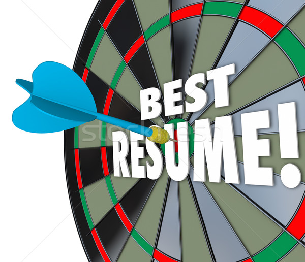Best Resume Dart Hitting Board Skills Experience Reference Educa Stock photo © iqoncept